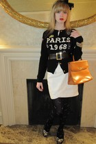 black Sonia by Sonia Rykiel sweater - white 31 phillip lim dress - black vintage