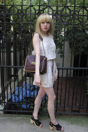 ivory embroidered Gold Hawk dress - purple sally Chloe bag - tawny leopard JCrew