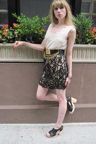 beige Vintage Micheline blouse - black 31 phillip lim skirt - black vintage omeg