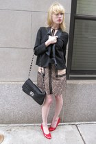 black tuxedo See by Chloe jacket - camel lace 31 Phillip Lim dress