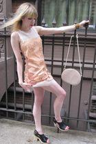 pink Philosophy Di Alberta Ferretti dress - gold vintage necklace - silver vinta