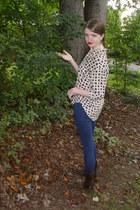 eggshell vintage Diane Von Furstenberg blouse