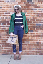 neutral paper Faux Chanel DIY bag - brown leopard print Target boots