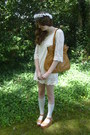 White-lace-oasap-dress-burnt-orange-vintage-bag