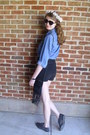 Black-high-waisted-calvin-klein-shorts-black-heart-unknown-sunglasses