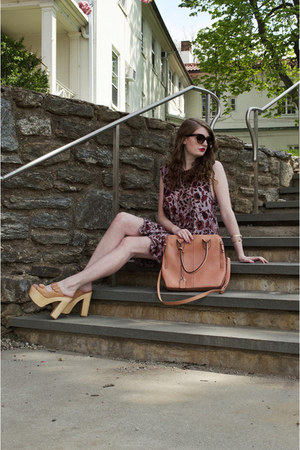 nude platform Nasty Gal heels - light purple Urban Outfitters dress