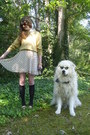 Gold-vintage-sweater-cream-terrier-print-lulus-dress