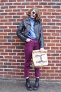 Light-brown-paper-diy-faux-chanel-bag-black-combat-target-boots