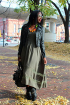 Primark boots - Meredith Meadow dress - H&M jacket - Mulberry bag