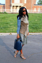 ann taylor shirt - BCBG shoes - Zara bag - Ray Ban sunglasses