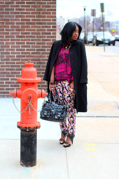 Pour La Victoire shoes - J Crew coat - Mulberry bag - vintage blouse - H&M pants