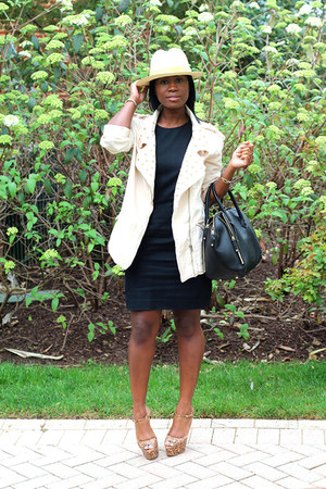 Zara dress - JCrew hat - Zara jacket - Rebecca Minkoff bag