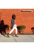 vintage bag - Wells Grace coat - Levis jeans - OASAP sunglasses