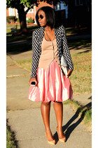 banana republic bag - H&M blazer - Forever 21 skirt - banana republic cardigan