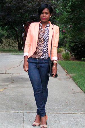 Line & Dot blazer - J Brand jeans - vintage from Ebay shirt - vintage bag