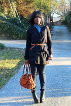 Forever 21 boots - J Brand jeans - ann taylor shirt - Sherry Wolfe bag