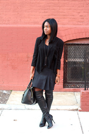 Aldo boots - BCBG jacket - Rebecca Minkoff bag - fila skirt