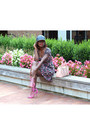 Forever-21-dress-quell-collections-hat-justfab-bag-justfab-sandals