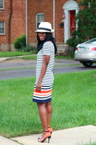 Joe Fresh dress - alloy hat - Zara heels - H&M necklace