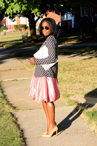 Forever 21 skirt - H&M blazer - banana republic bag - banana republic cardigan