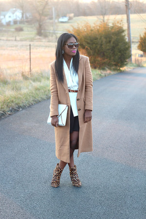asos coat - Joie boots - banana republic bag - Mossimo vest