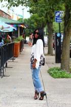 Topshop blouse - Pour La Victoire shoes - vintage levis jeans - Zara shirt