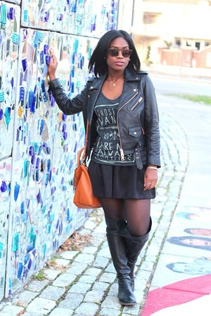 DKNY boots - Club Monaco jacket - Weekend Society shirt - Zara bag