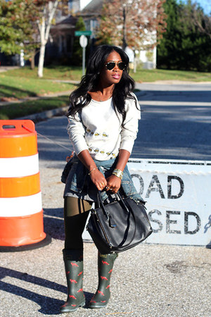 Joules boots - madewell jacket - Rebecca Minkoff bag
