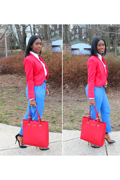Premise blazer - Jones NY shirt - Michael Kors bag - asos pumps - madewell pants