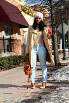 Zara sweater - Bennetton coat - Zara bag - Gap pants - Zara pumps