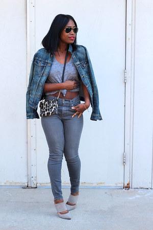 madewell jeans - madewell jacket - madewell shirt - kate spade bag
