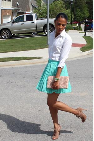 GoJane skirt - bitten shirt - H&M purse - Forever 21 heels
