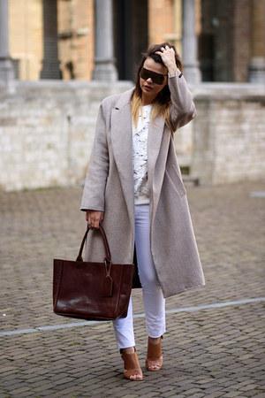 Silhouette Futura sunglasses - Zara coat - Marc Fisher heels