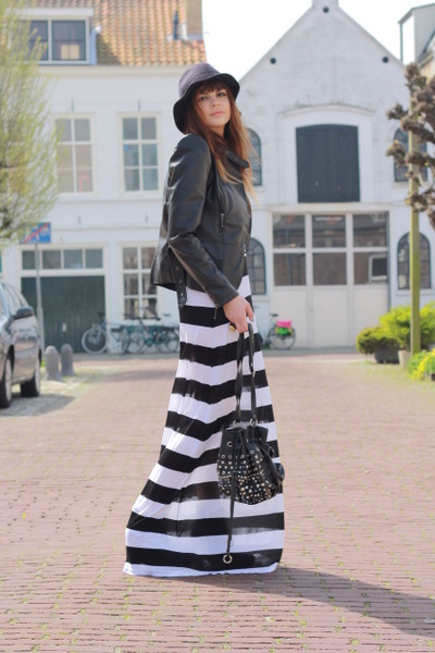 H&M dress - SuperTrash jacket - Comme des Garcons hat - Primark purse