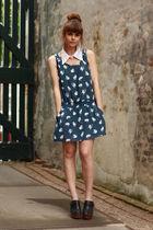 Jeffrey Campbell shoes - Zara dress - Collar DIY accessories