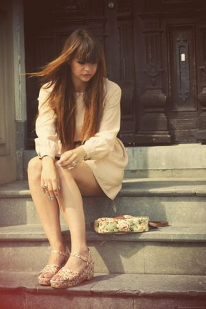 vintage shoes - Urban Outfitters purse - Urban Outfitters dress