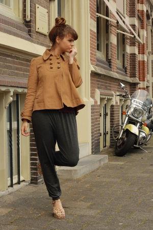 vintage shoes - Primark coat - Topshop pants