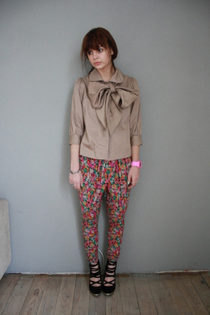H&M shoes - Primark jacket - H&M garden collection pants