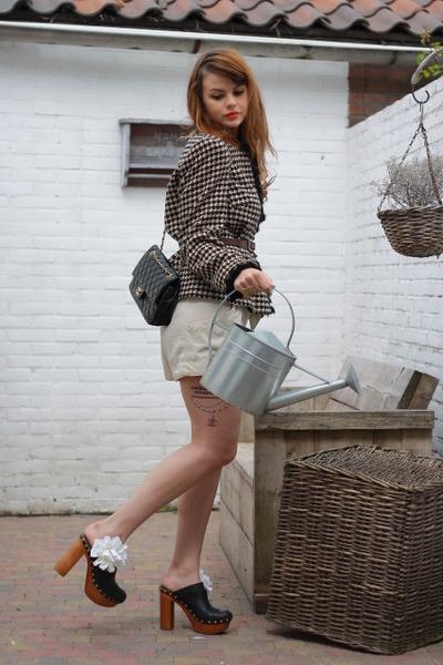 vintage blazer - H&M Garden shorts - JC shoes - Chanel tattoos accessories