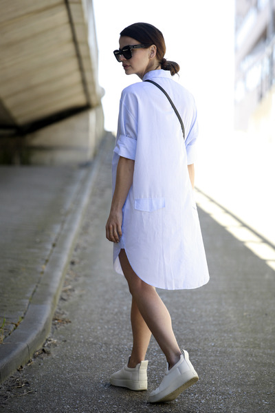 Celine sunglasses - acne dress - Celine sneakers