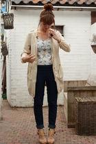 Zara top - H&M garden collection jacket