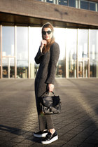 wool knitted Zara suit - Marc Jacobs bag - Polette sunglasses