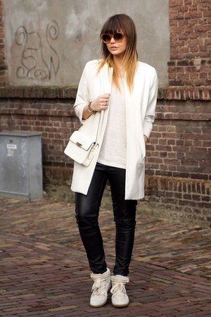 Zara coat - Celine sunglasses - sneakers