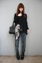 Boohoocom pants - H&M sweater - sam edelman boots