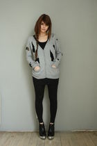 ployy sweater - acne boots