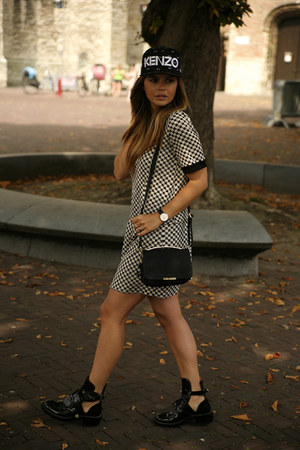 Oasis top - balenciaga boots - Kenzo hat - Oasis skirt - Daniel Wellington watch