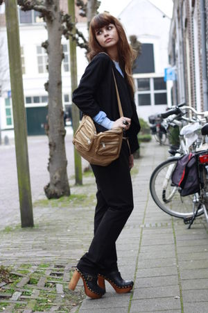 H&M blazer - Forever 21 sweater - H&M pants - Country Road purse - Jeffrey Campb
