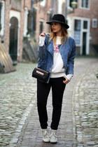 Isabel Marant sweatshirt - vintage coat - Isabel Marant sneakers