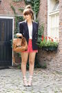 Vintage-blazer-self-made-shorts-oasis-shoes-asos-purse