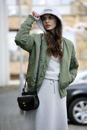 Vetements dress - Alpha Industries jacket - Chloe bag